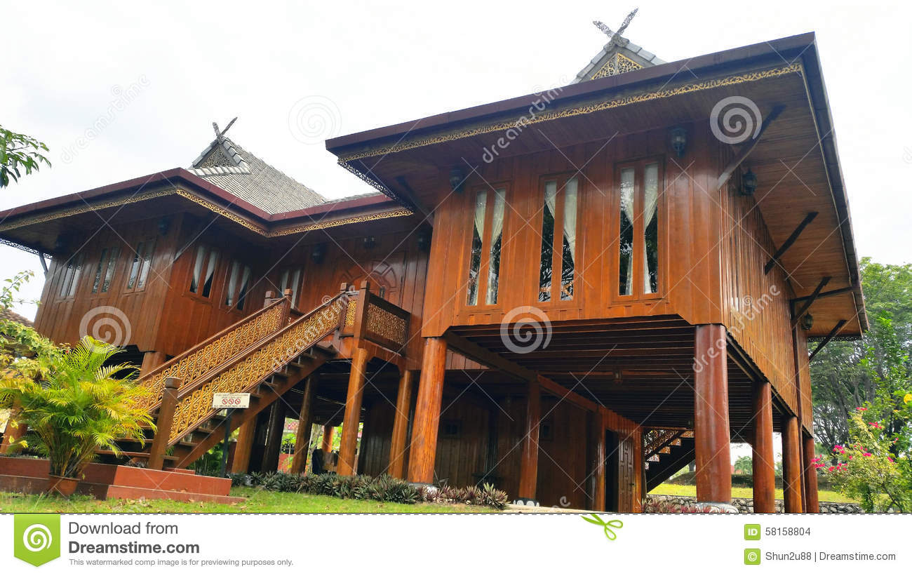 Wooden Bungalow House Stock Photo Image 58158804