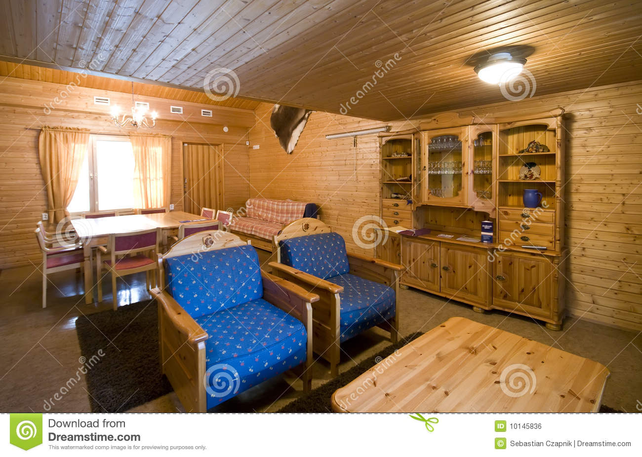 Wooden Cabin Interior Stock Photo Image Of Facility