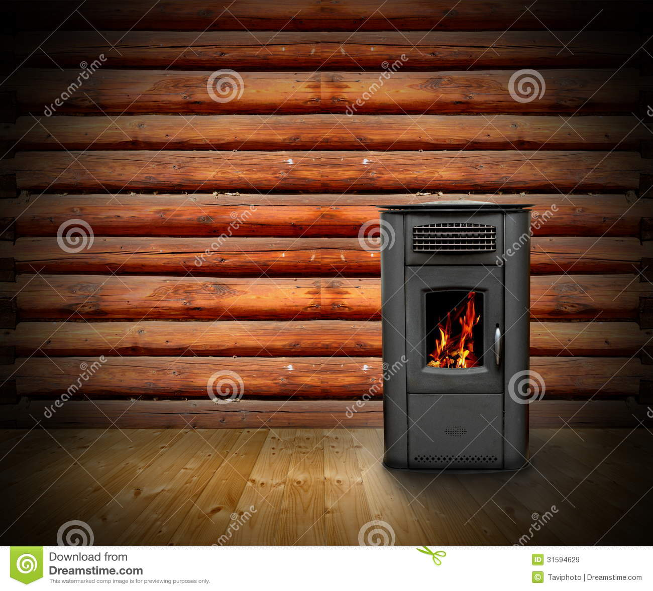 Wooden Cabin Interior Background Stock Image Image 31594629