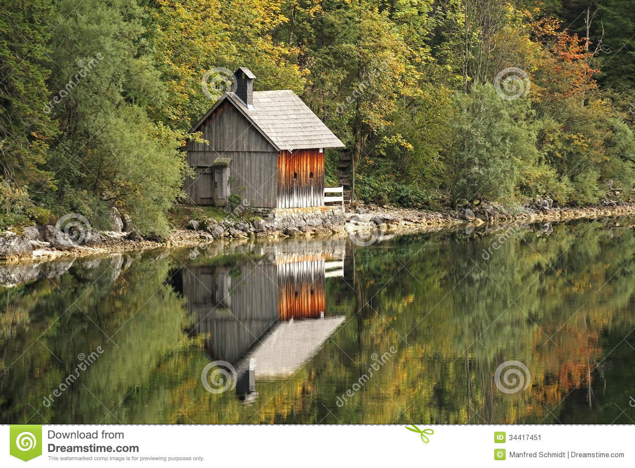 Wooden Cabin Stock Image Image 34417451