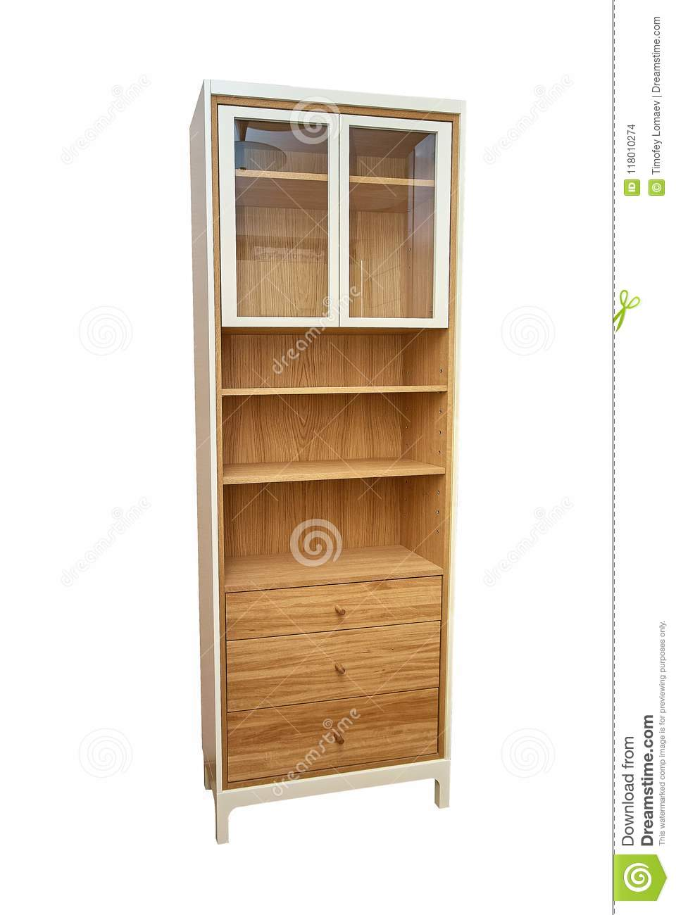 Wooden Kitchen Cupboard On A White Background Stock Photo Image Of