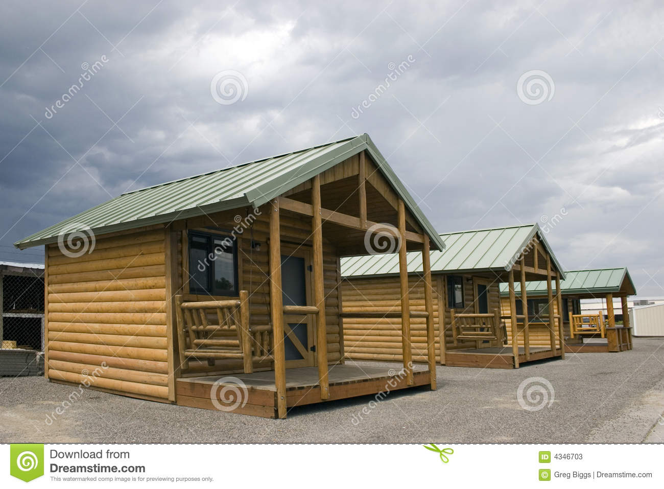 Wooden Cabins Stock Photos Image 4346703