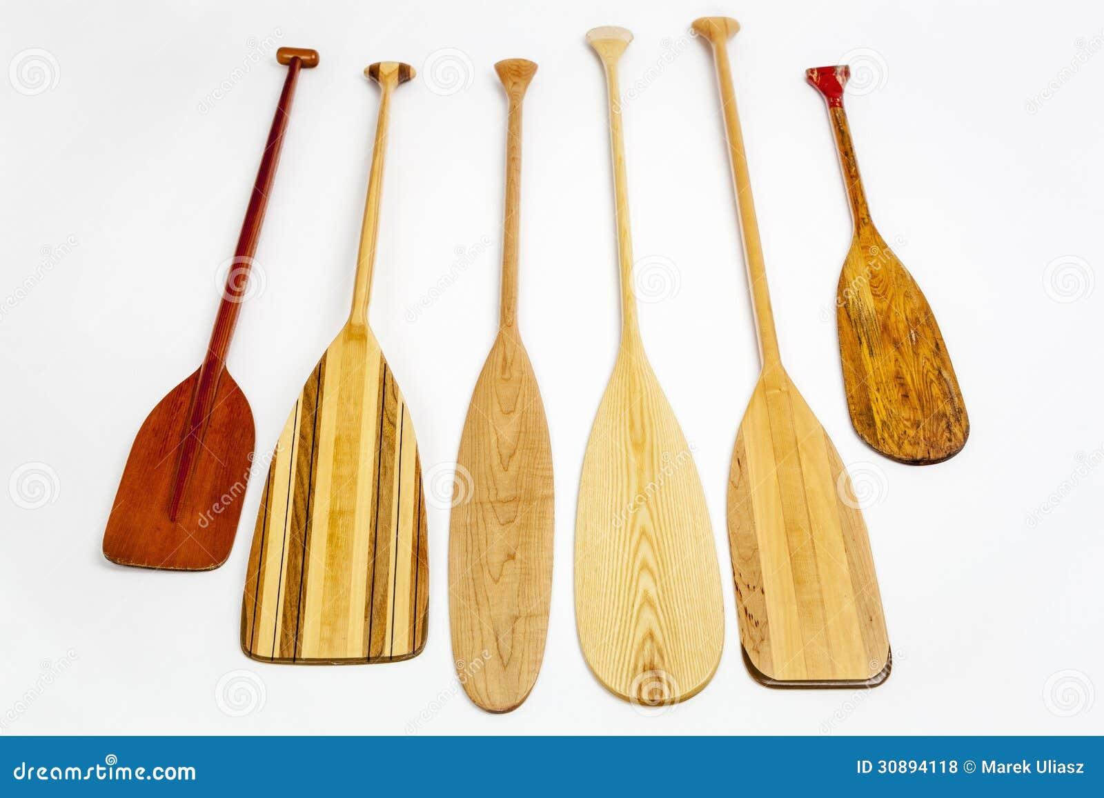 Canoe Paddle Blades : Wooden canoe paddles stock photo image of beaver