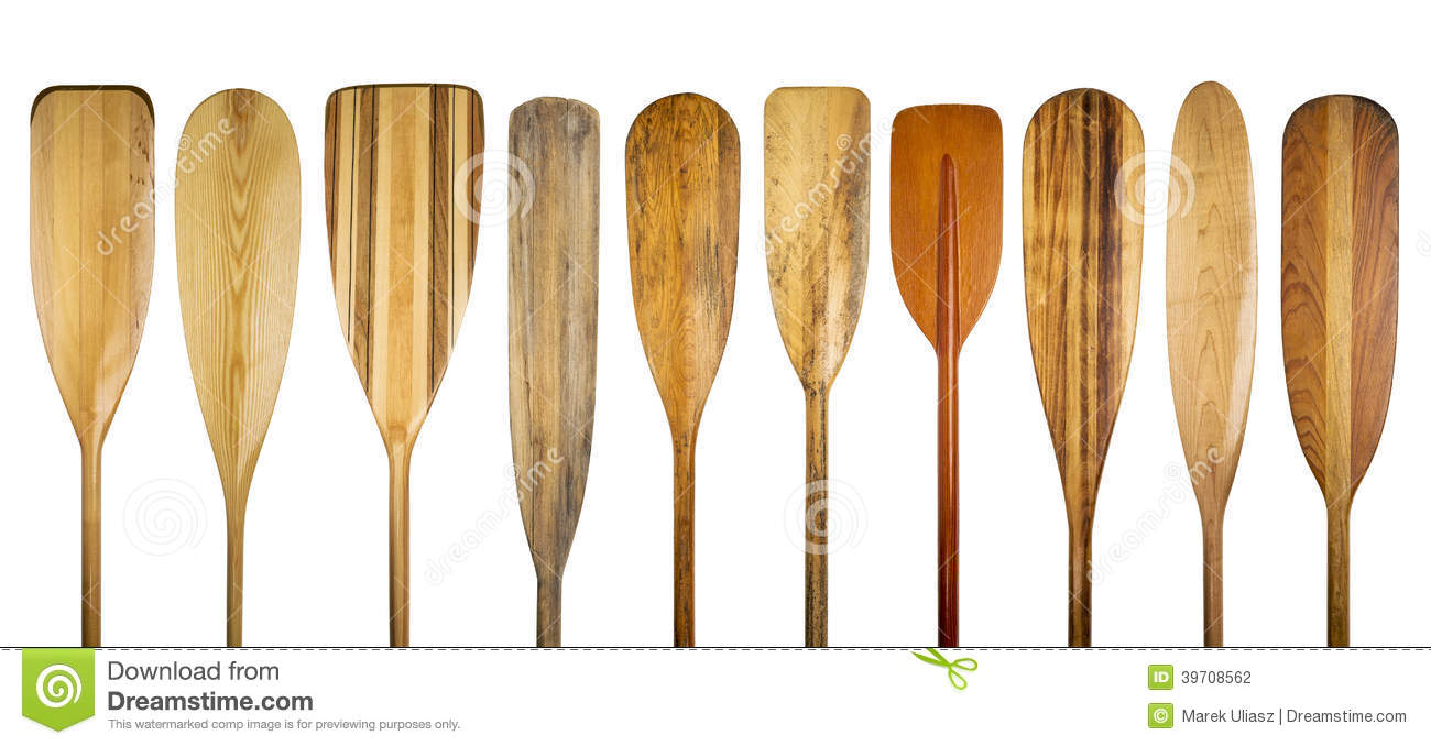 Wooden canoe paddles stock photo. Image of grain, paddling ...