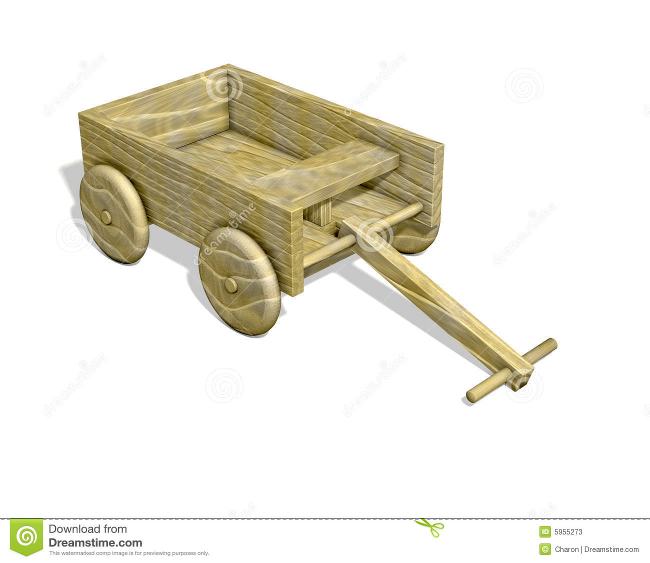 Wooden Cart Isolated Stock Photos - Image: 5955273