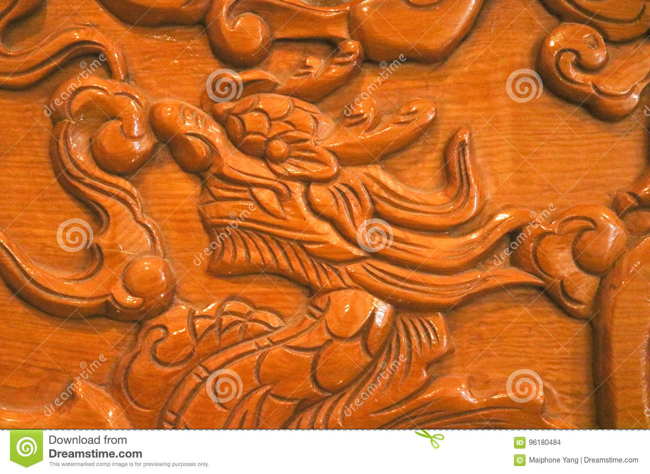 Wooden Carve Of Lao Furniture Stock Photo - Image of painting