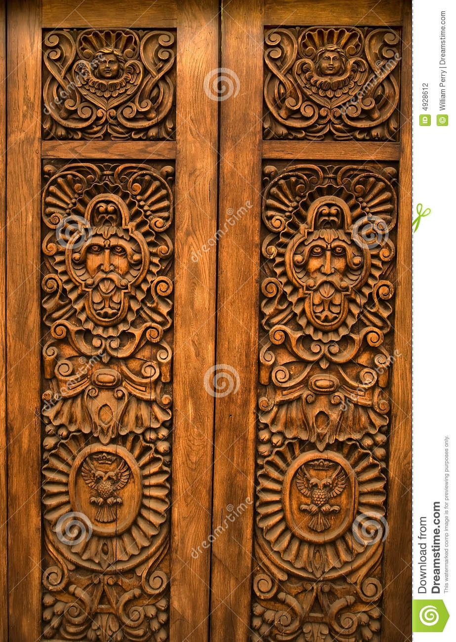Wooden Carved Door Guadalajara Mexico Stock Photo Image