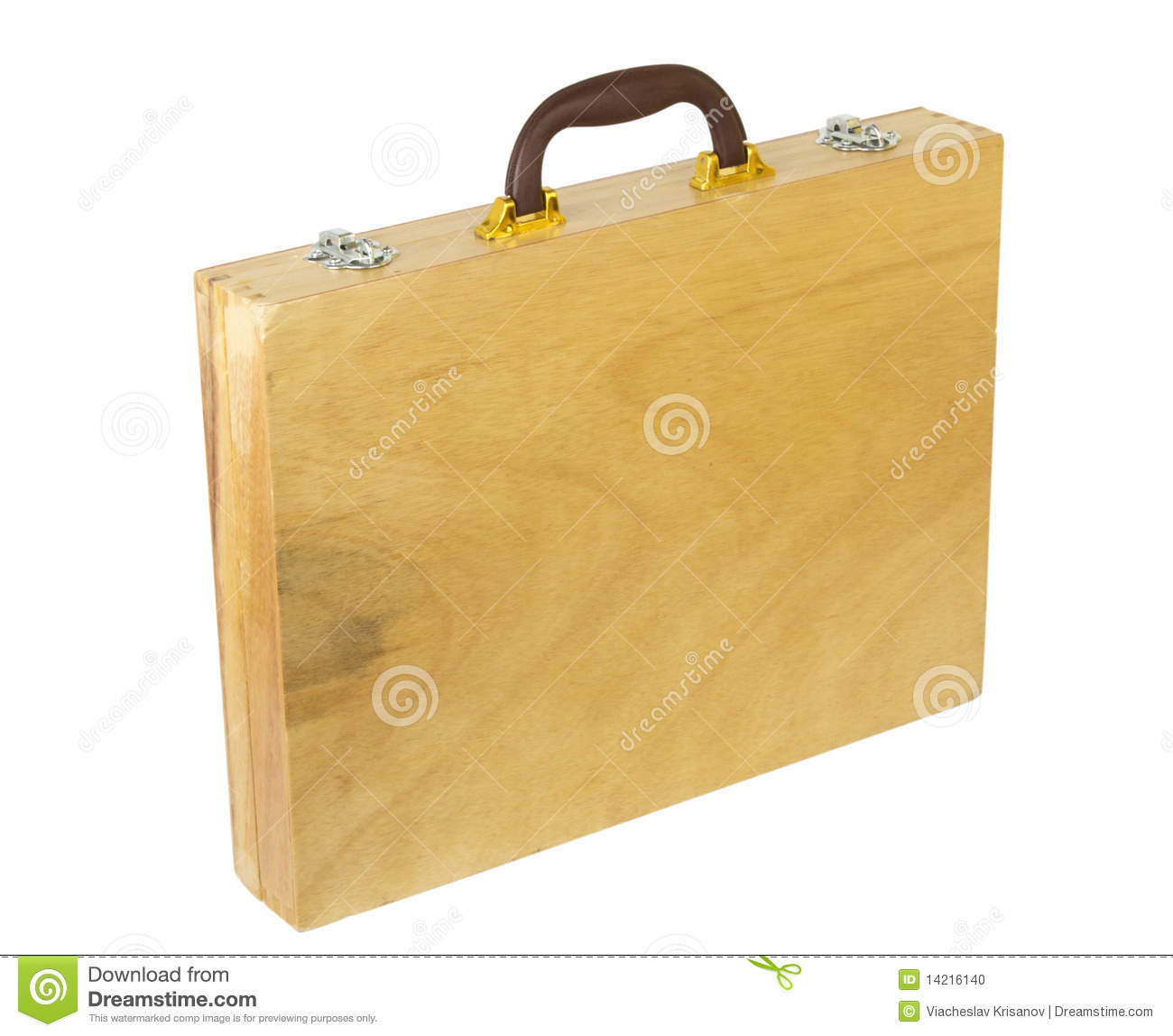 Download Wooden case stock photo. Image of portfolio, handle, wood - 14216140