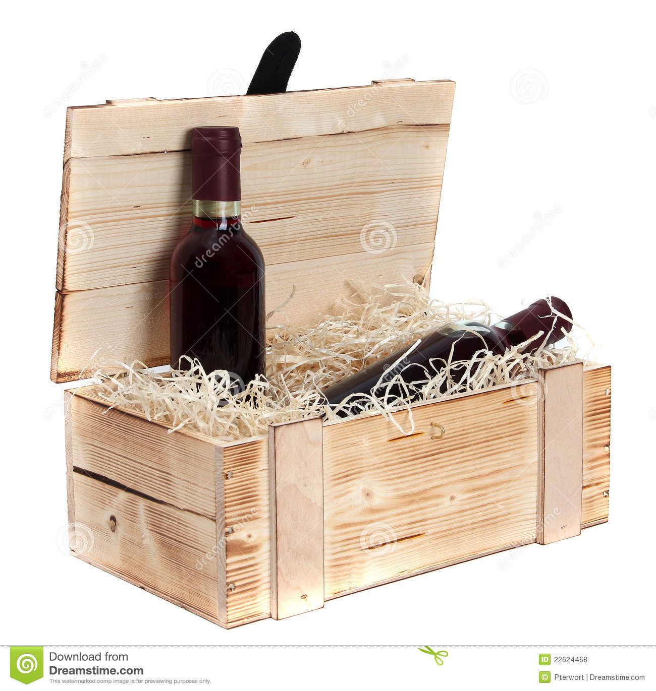 Wooden wine case Petrus Wooden Case With Two Bottles Of Red Wine Dreamstimecom Wooden Case With Two Bottles Of Red Wine Stock Photo Image Of