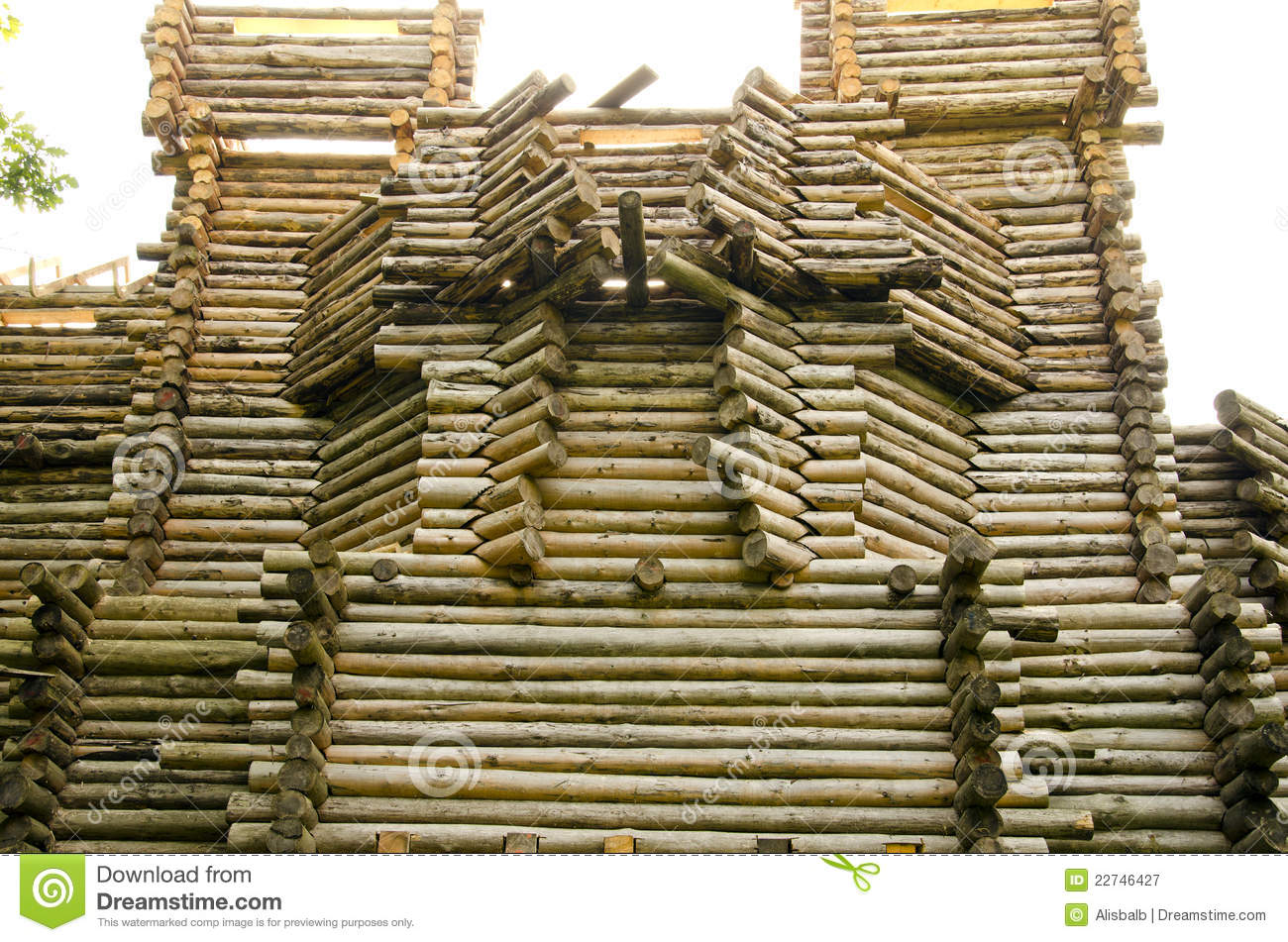 Wooden Castle Construction Royalty Free Stock Photography - Image ...