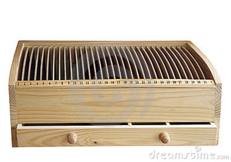 Wooden Cd Rack With Drawer Royalty Free Stock Photo