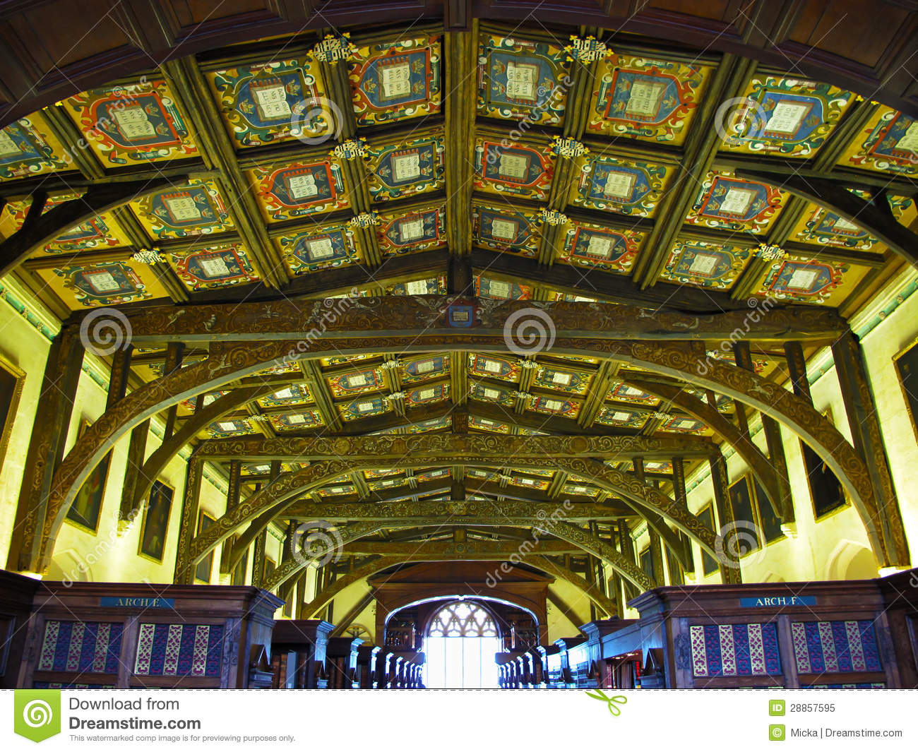 Wooden ceiling in Bodleian library