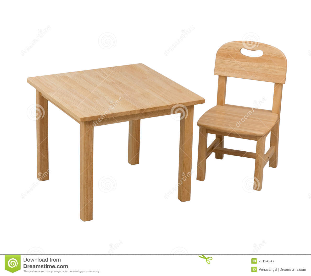 Stupendous Wooden Chair And Desk For Kid Stock Image Image Of Dailytribune Chair Design For Home Dailytribuneorg