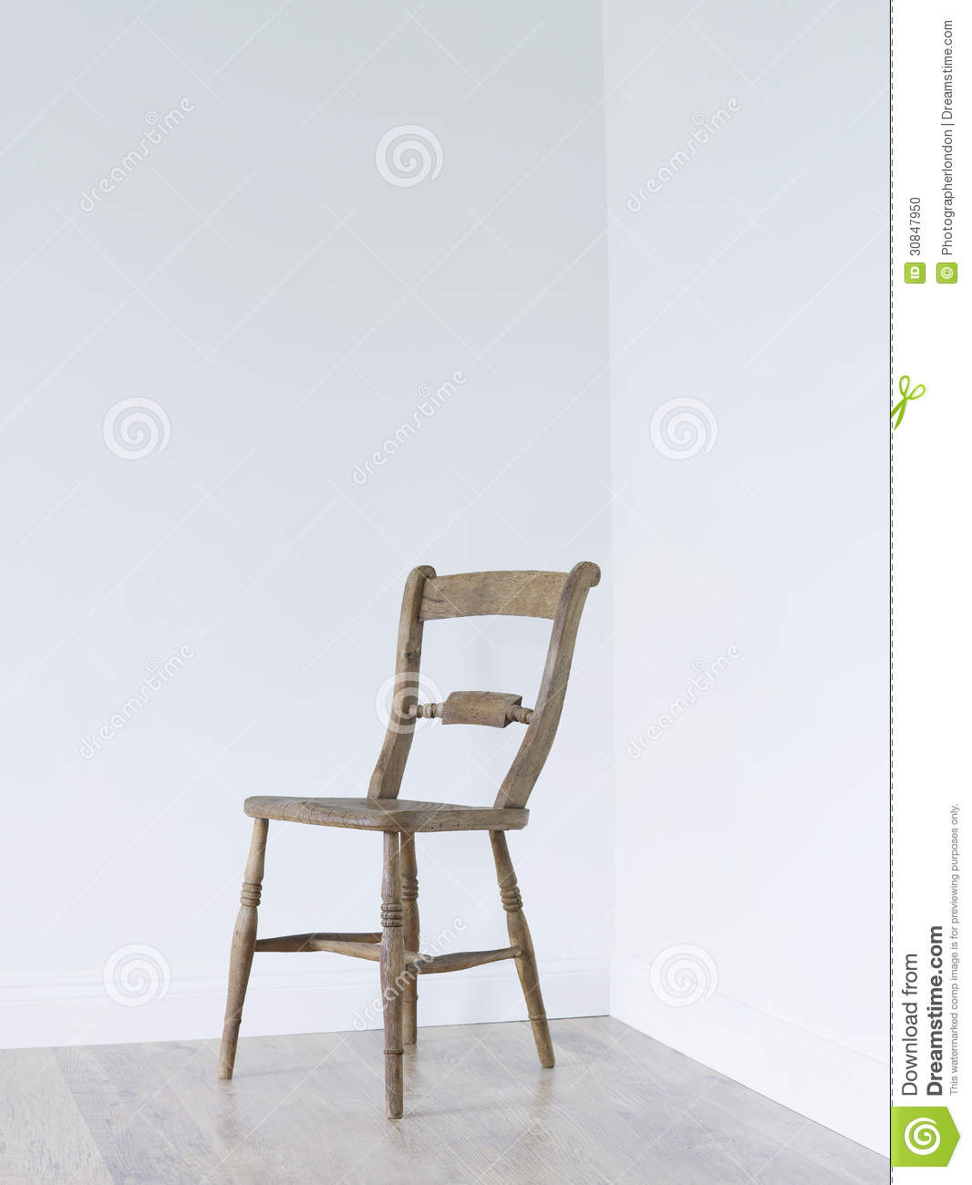 Empty chair in room - Royalty Free Stock Photo Download Wooden Chair In Empty Room