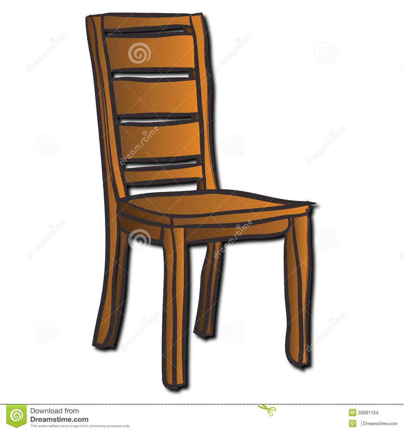 A Wooden Chair Stock Illustration Image Of Back Four
