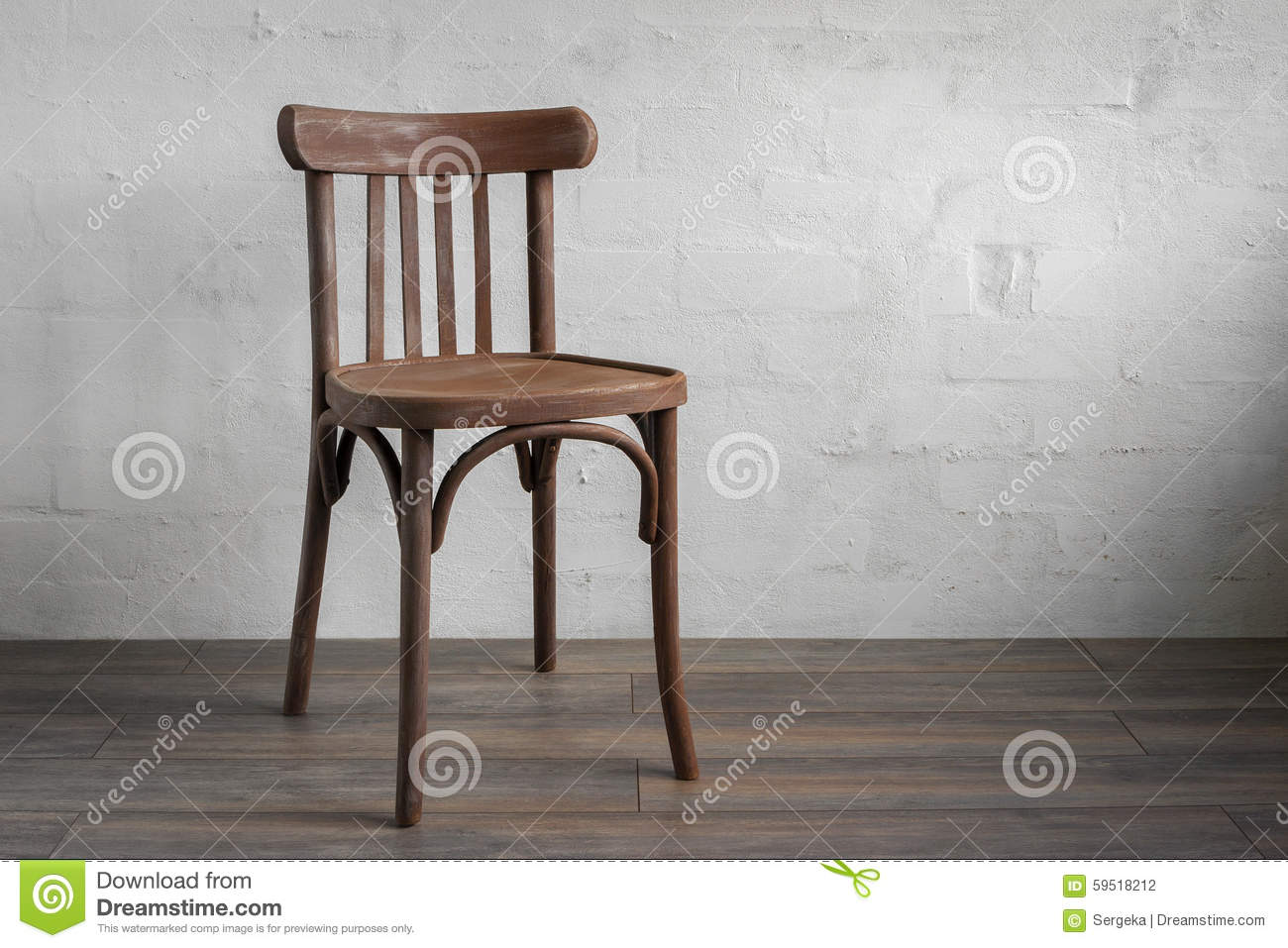 Amazing photo of Wooden Chair Stock Photo Image: 59518212 with #86A823 color and 1300x957 pixels