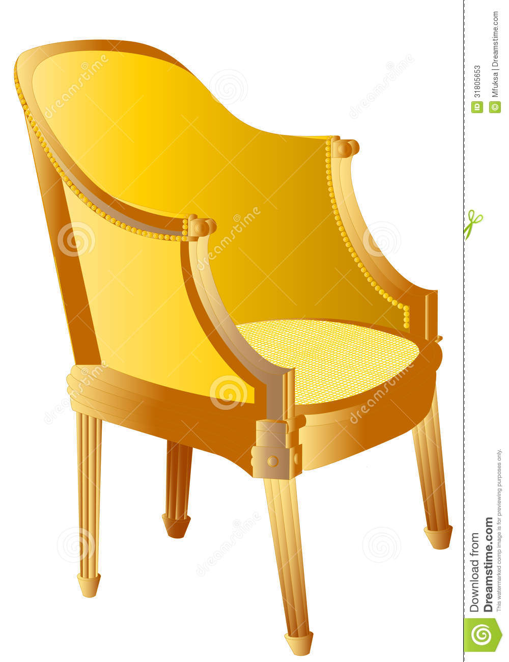 Wooden chair stock photos image
