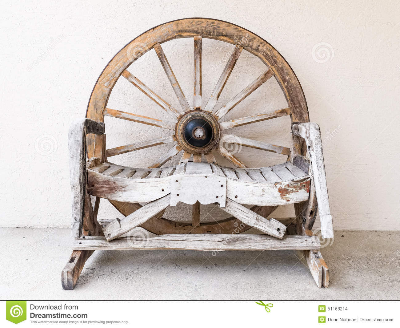 Wooden Chair For Two Stock Photo Image 51168214