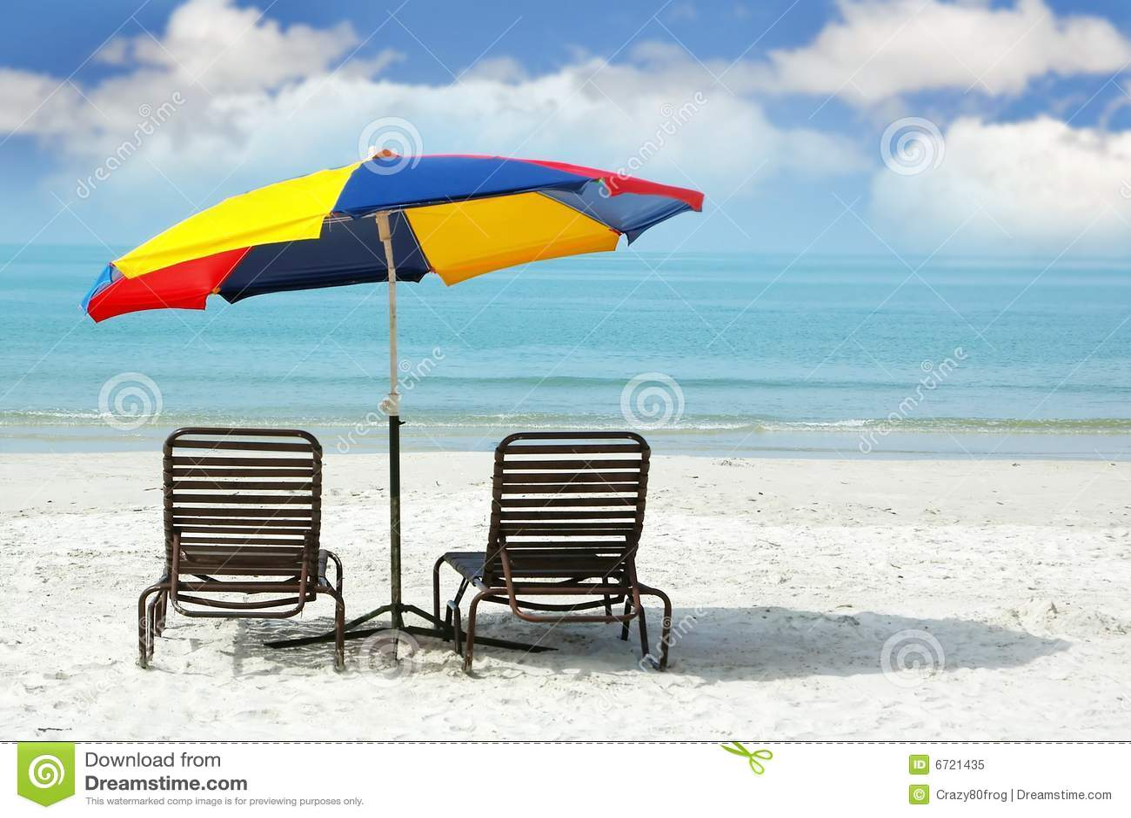 Beach chair and umbrella - Beach Sand Umbrella