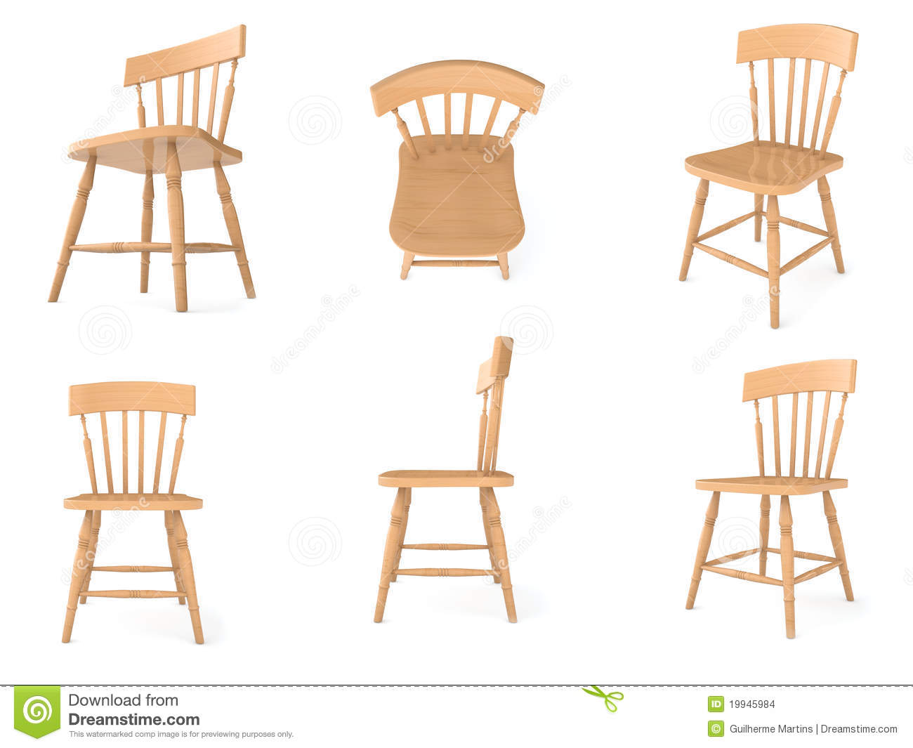 Wooden Chairs In Different Angles Stock Images Image