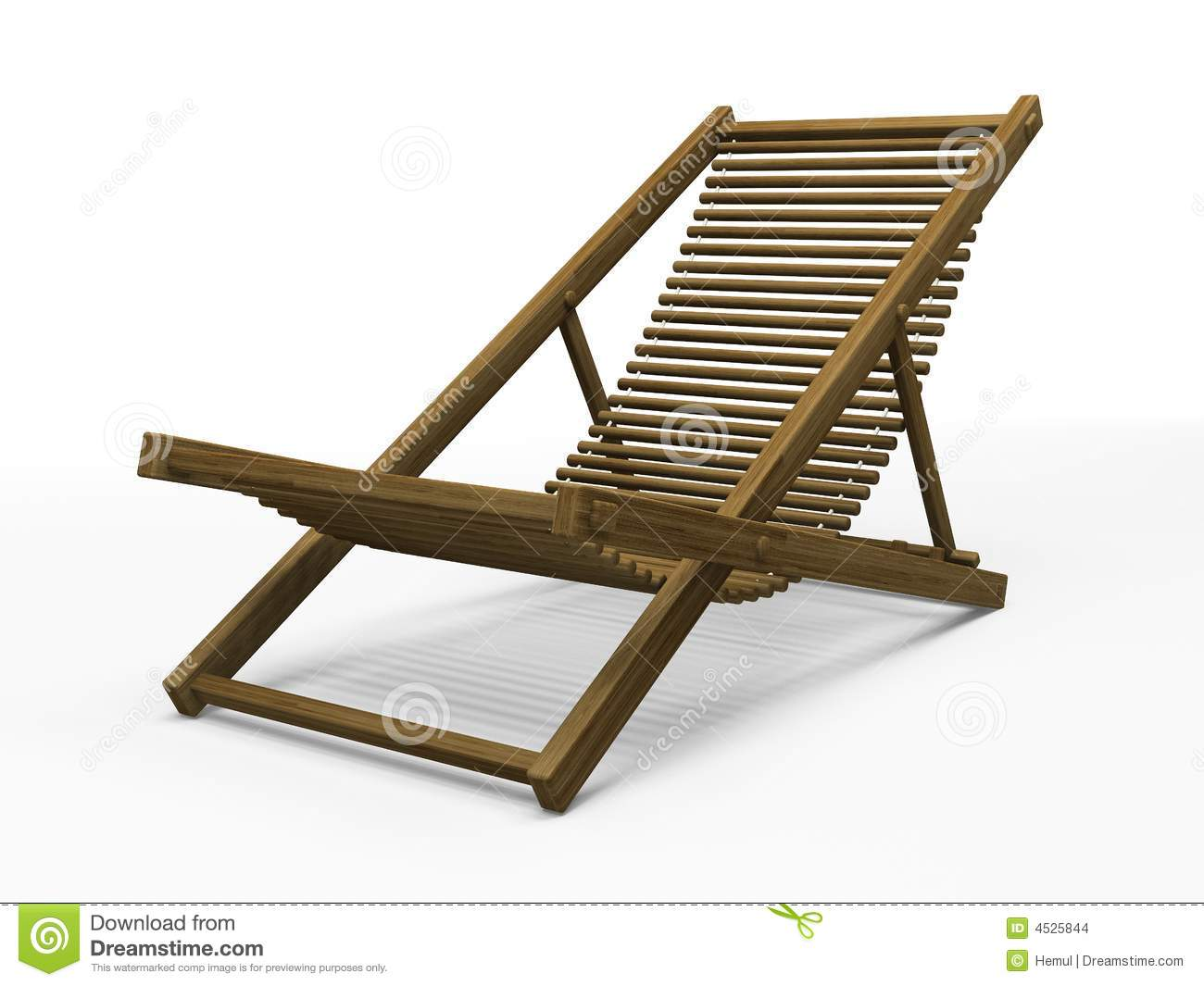 Wooden chaise longue stock illustration image of wooden for Chaise wooden