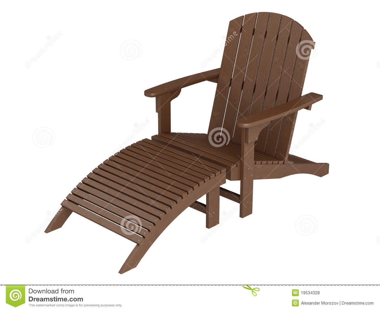 Wooden Chaise Lounge Stock Image