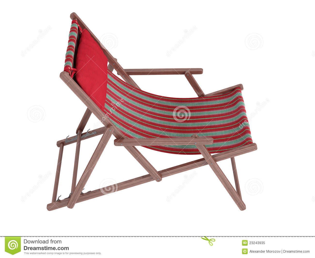 Wooden chaise lounge stock image 23243935 for Chaise wooden