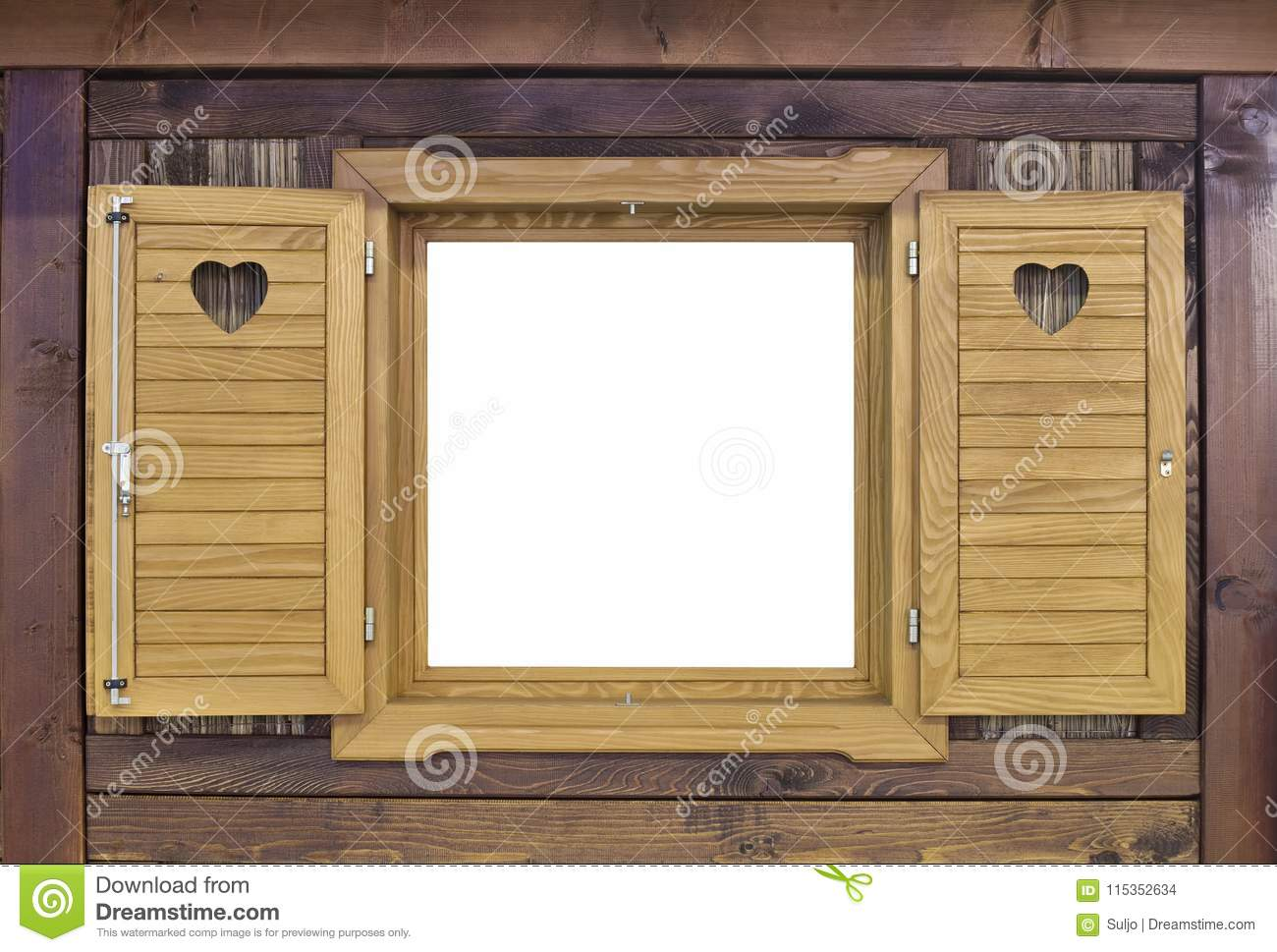 Download Wooden Challet Window Stock Photo Image Of Open Rustic