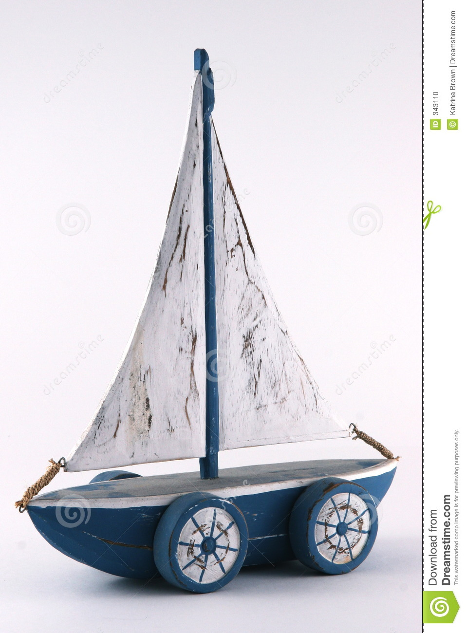 Wooden Child's Toy Sailboat Stock Photo - Image: 343110