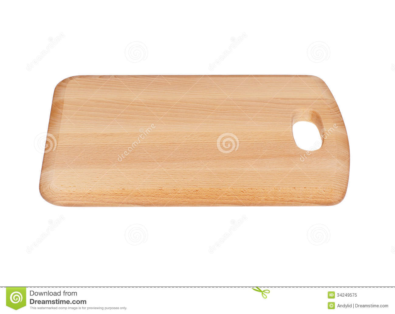 Wooden Chopping Board Bloack Royalty Free Stock Photo - Image