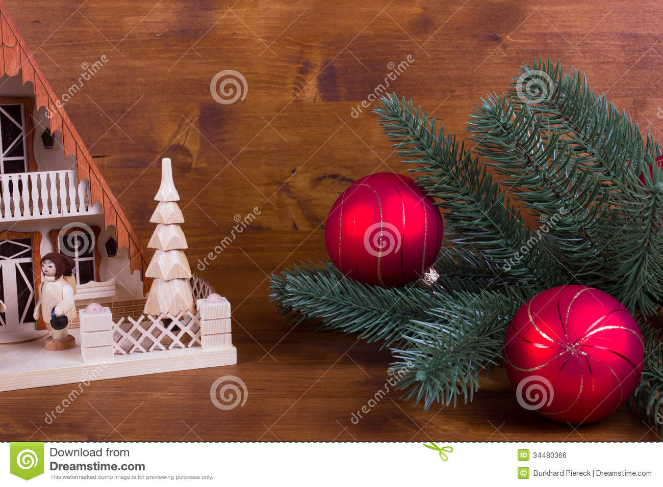 Wooden Christmas Background With Lighthouse Stock Photo Image Of