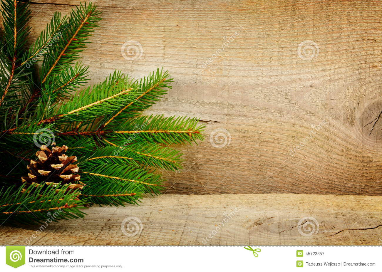 wooden christmas backgrounds fir spruce cone stock image - image of