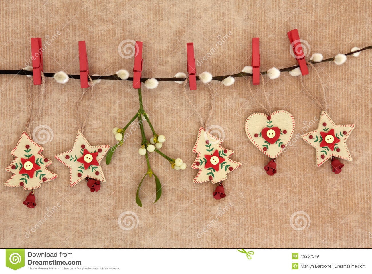 Wooden Christmas Decorations Stock Photo Image 43257519