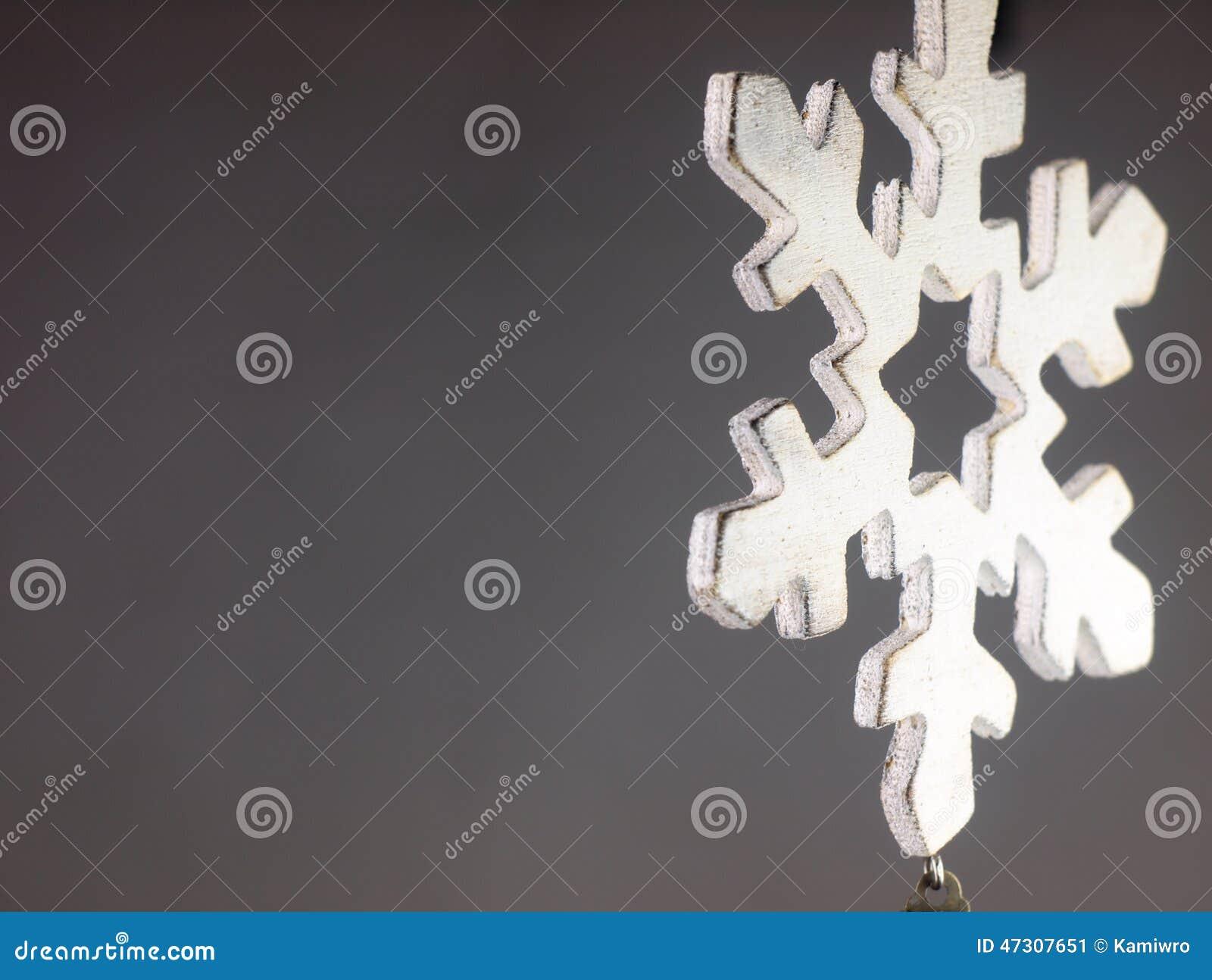 Wooden Christmas Ornament Big Snowflake Stock Image Image Of
