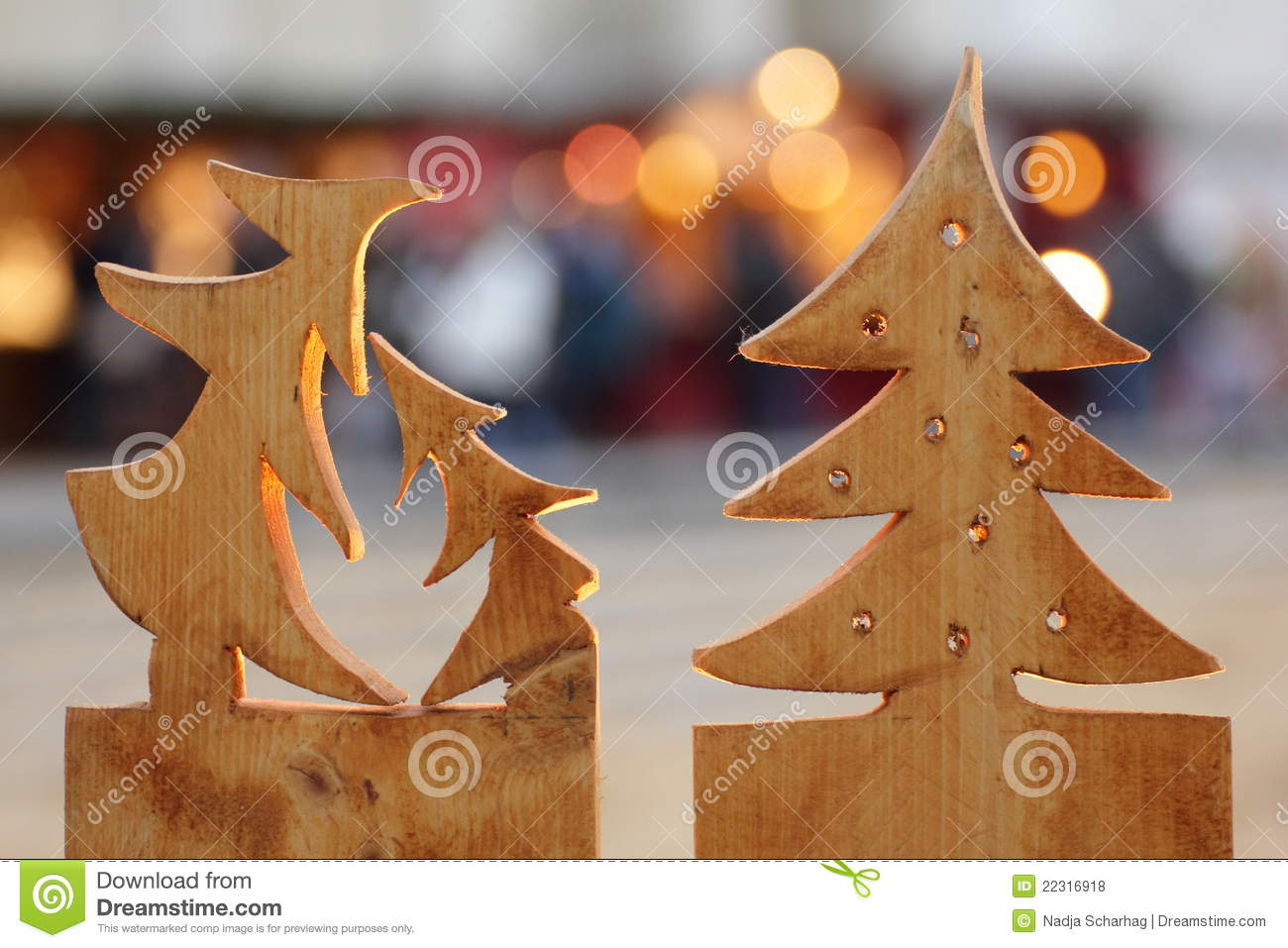 Wooden christmas trees stock photo. Image of advent, baby ...