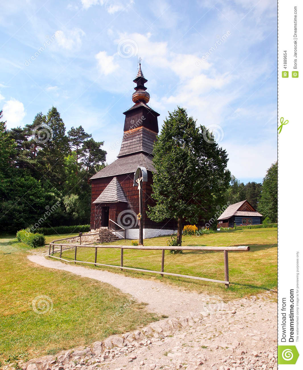A wooden church in Stara Lubovna, Slovakia