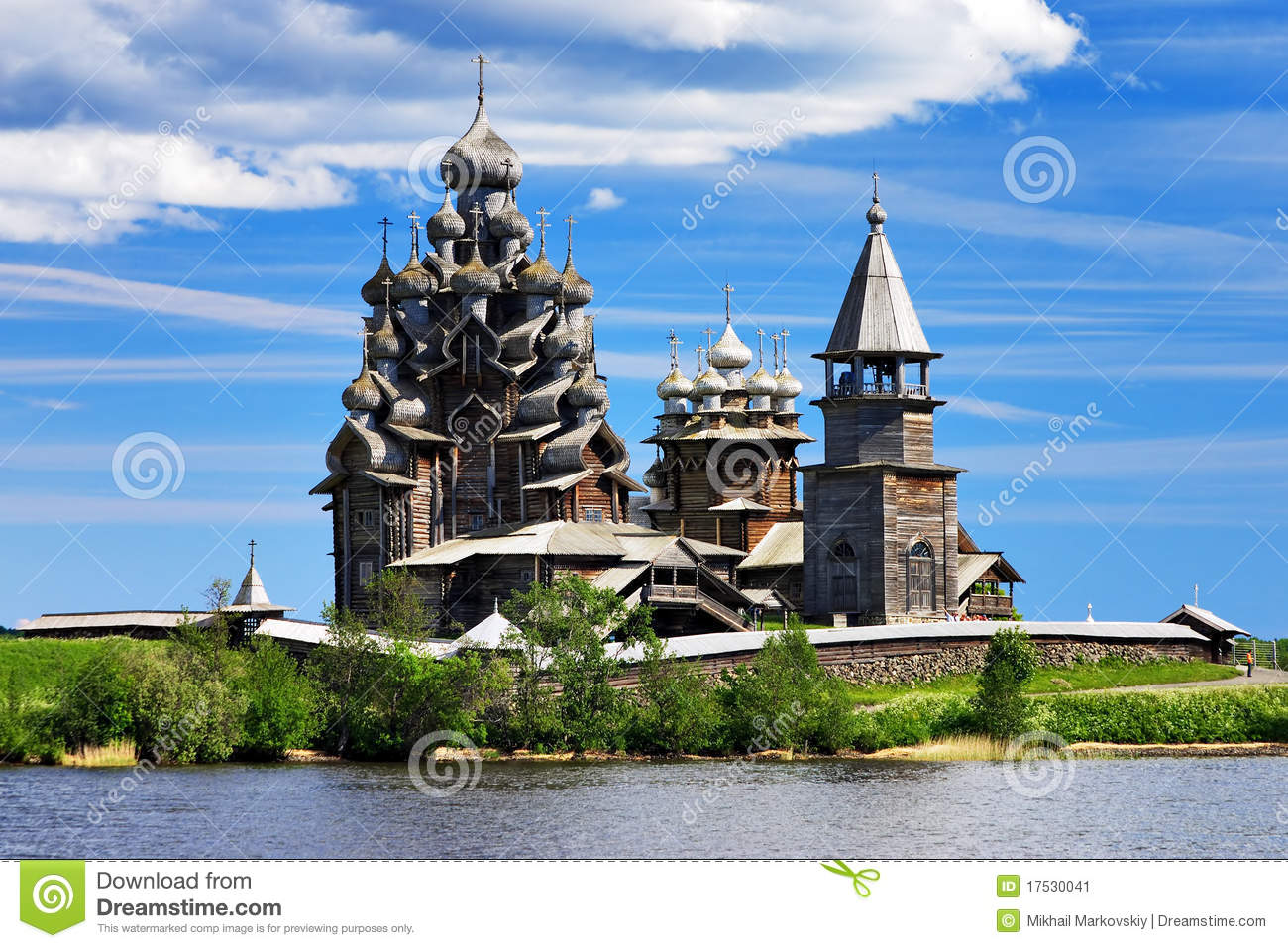 Wooden churches on island Kizhi