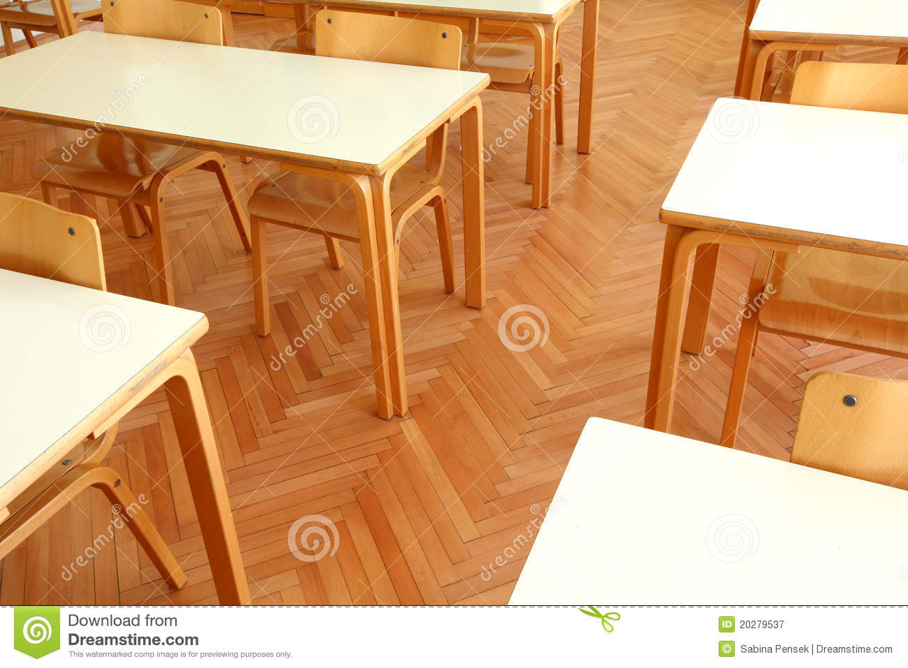 Wooden Classroom Tables And Chairs Stock Image Image Of University Table 20279537
