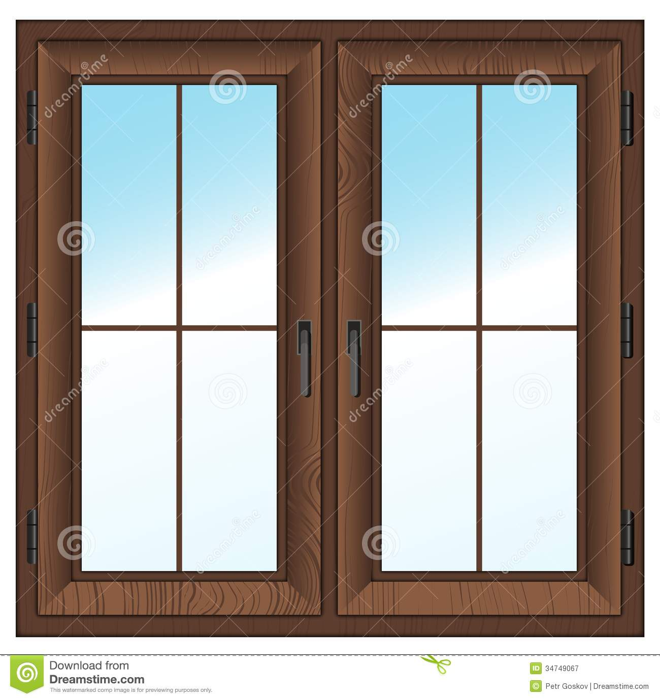 Wooden Closed Window Stock Illustrations 872 Wooden Closed Window