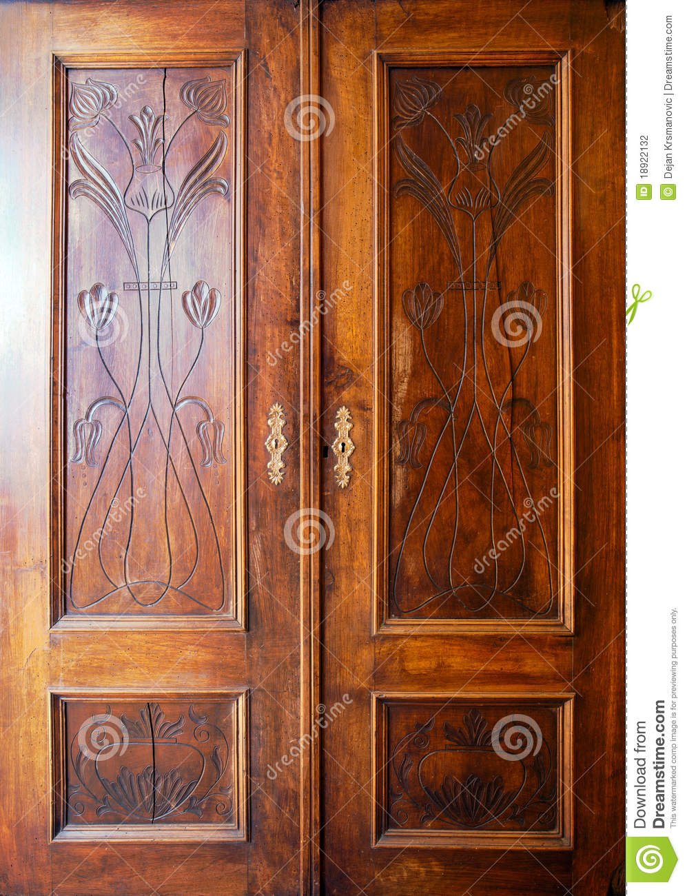 Wooden closet doors stock photo image of cabinet