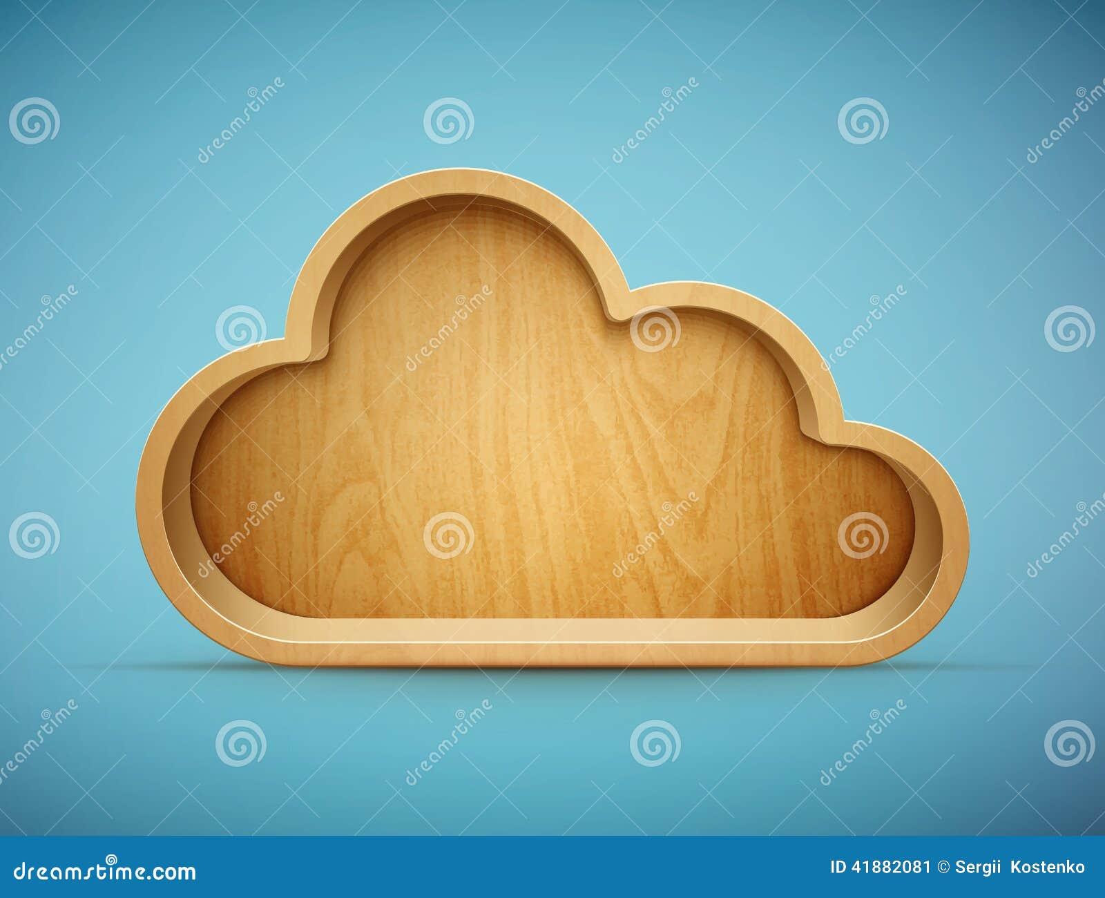 Wooden Cloud Shelf Stock Vector Illustration Of Shadow