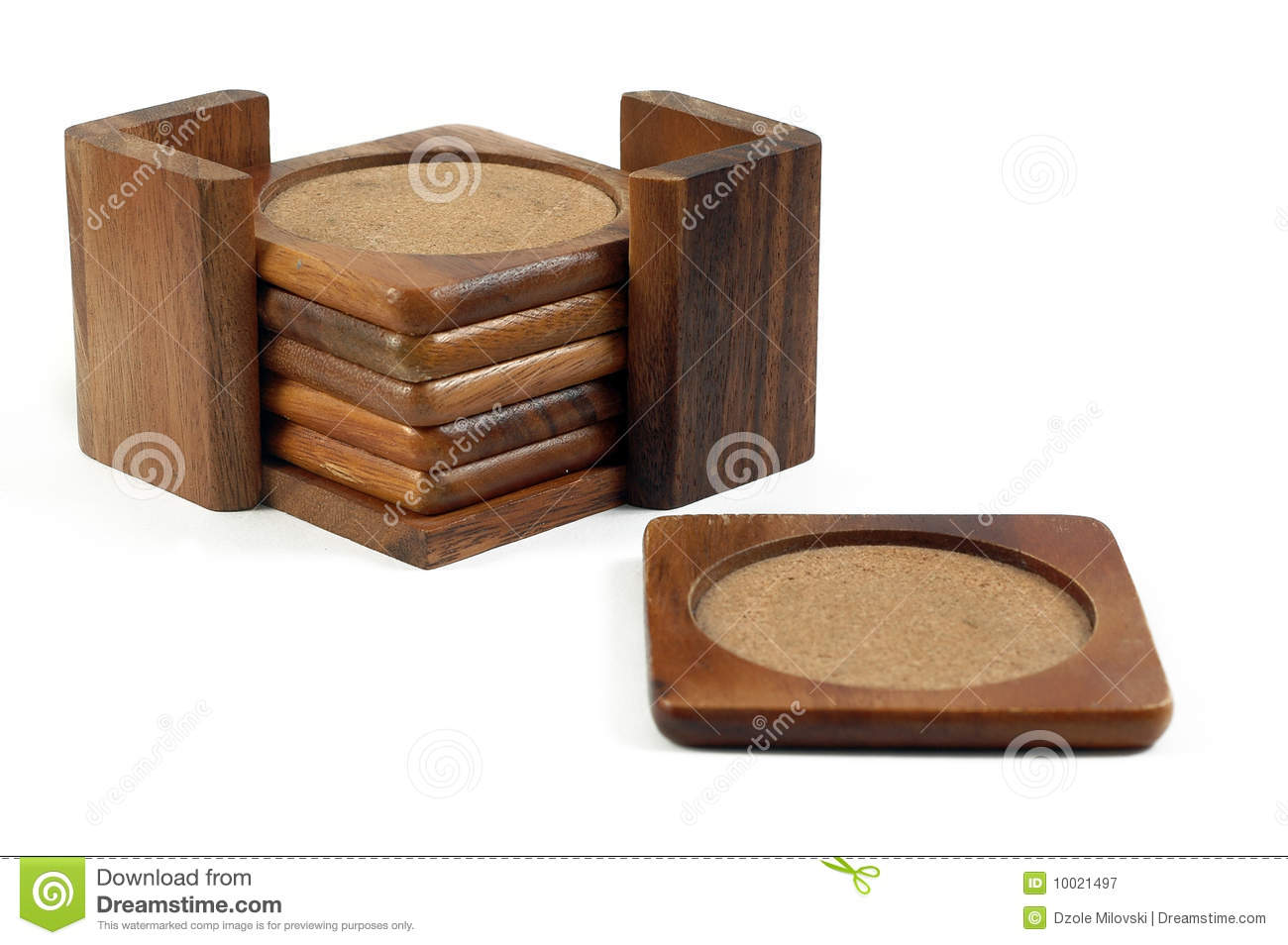 Beverage Coasters Wooden Coasters Stock Image Image Of Clipping Decorative