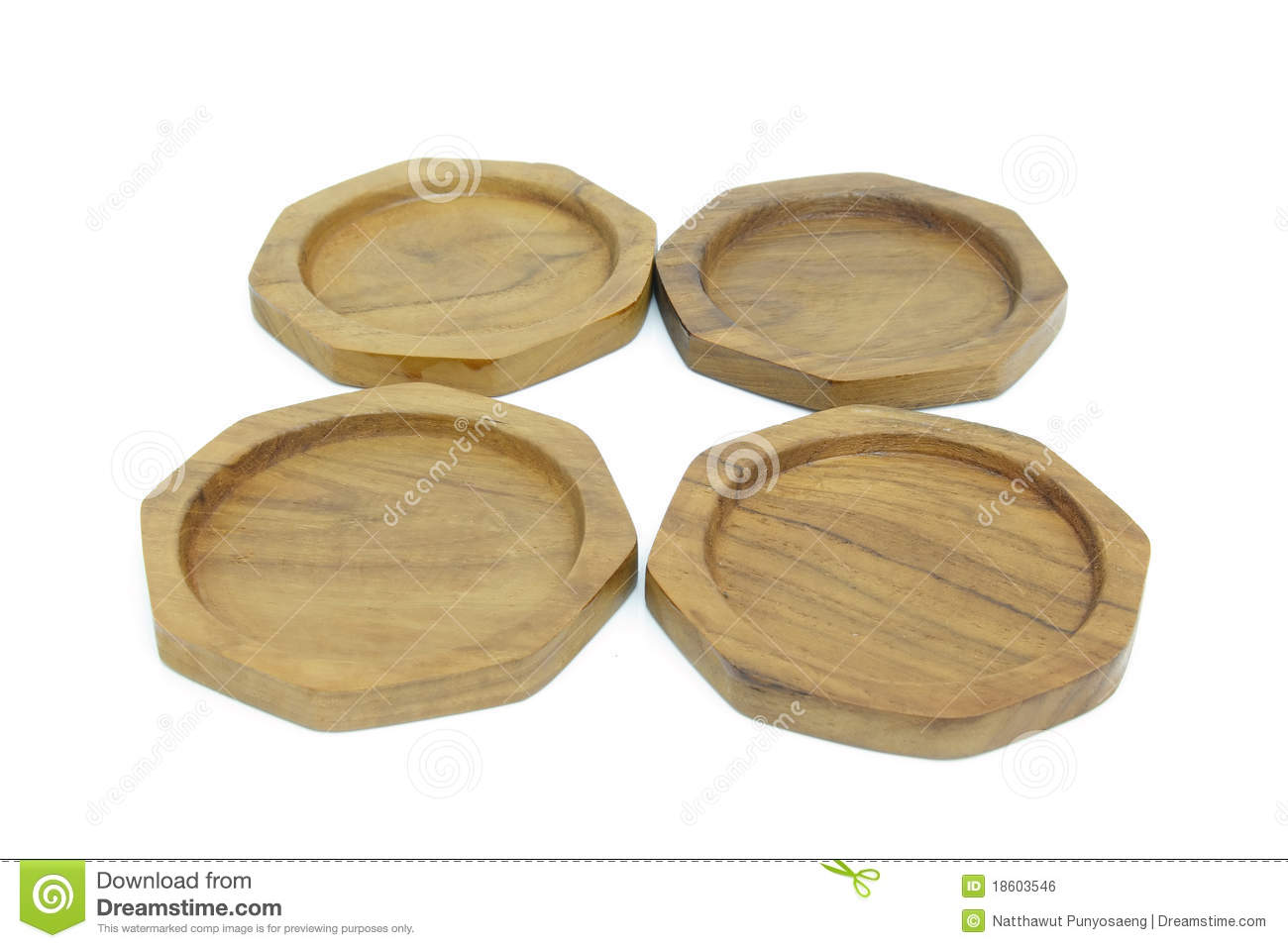 Wooden Coasters For Glass Royalty Free Stock Image