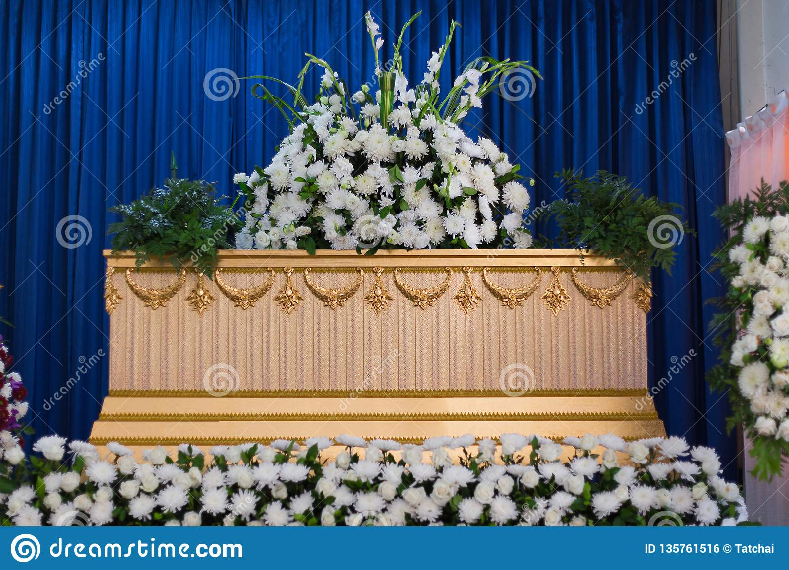 Coffin in Crematory