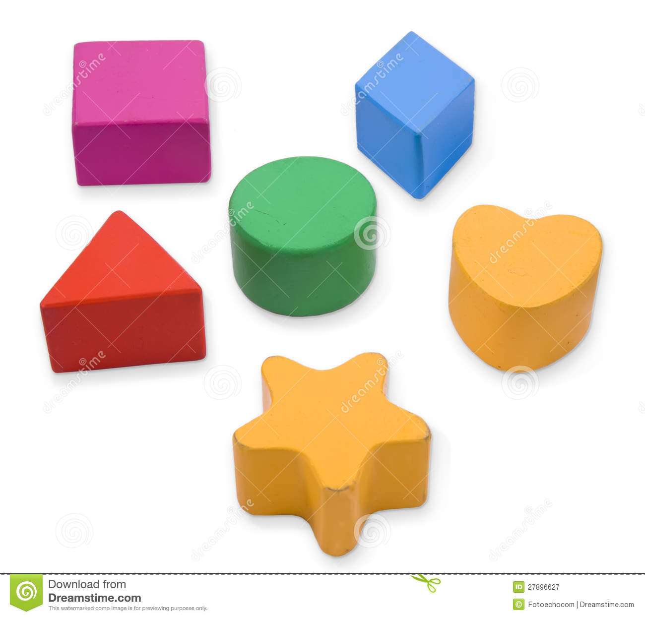 Wooden Color Blocks And Shapes Royalty Free Stock Photography - Image ...