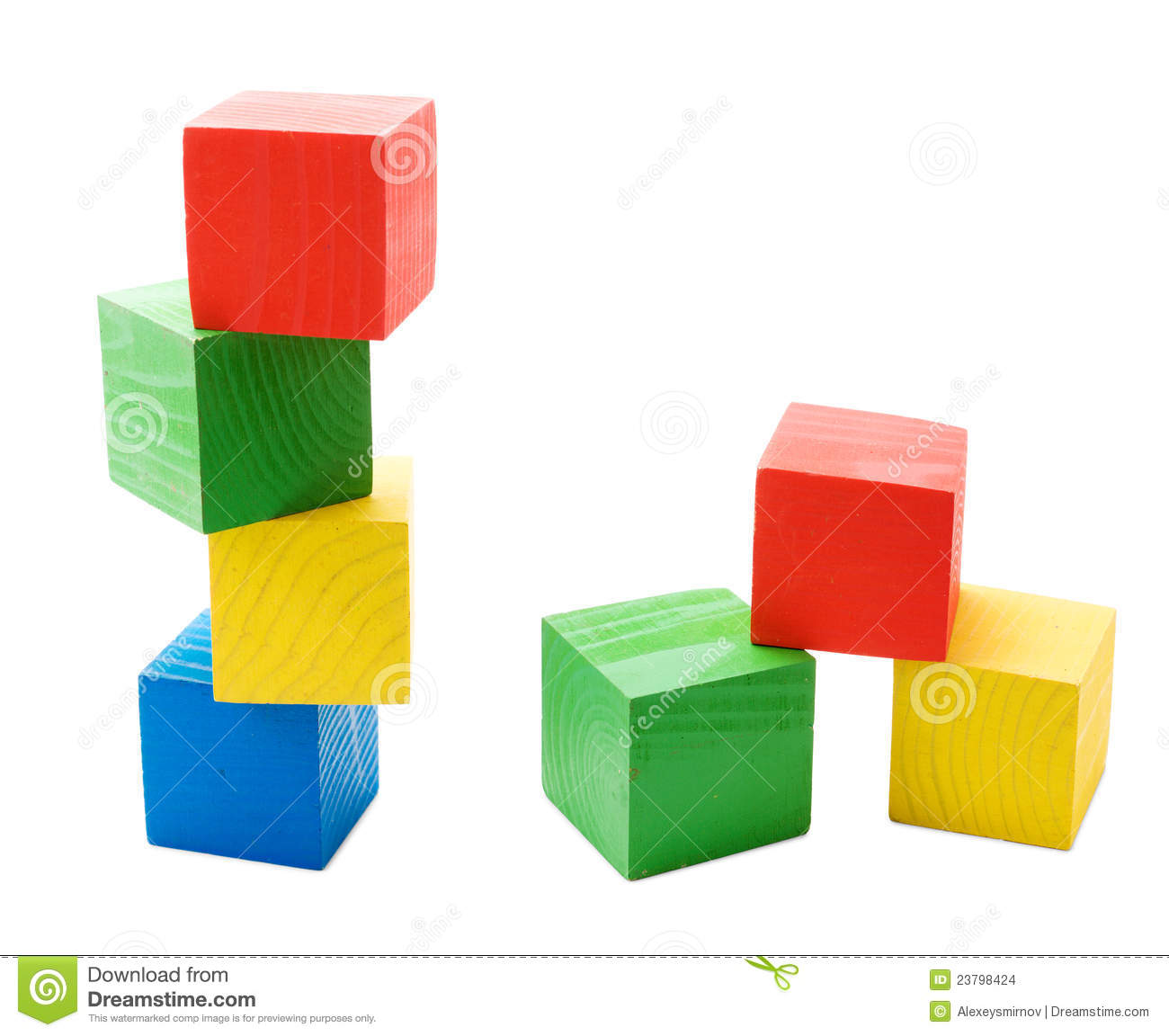 Wooden Colored Cubes Tower Stock Images Image 23798424