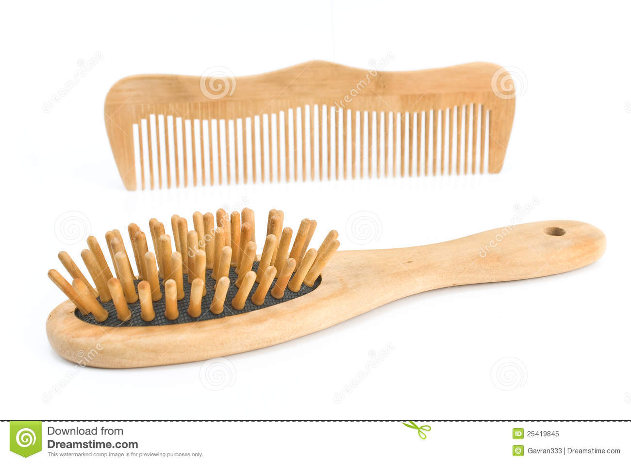 Wooden Comb And Brush Royalty Free Stock Photo Image