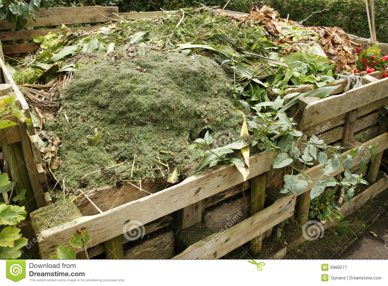 Download Wooden compost bin stock image. Image of horticultural - 6968277