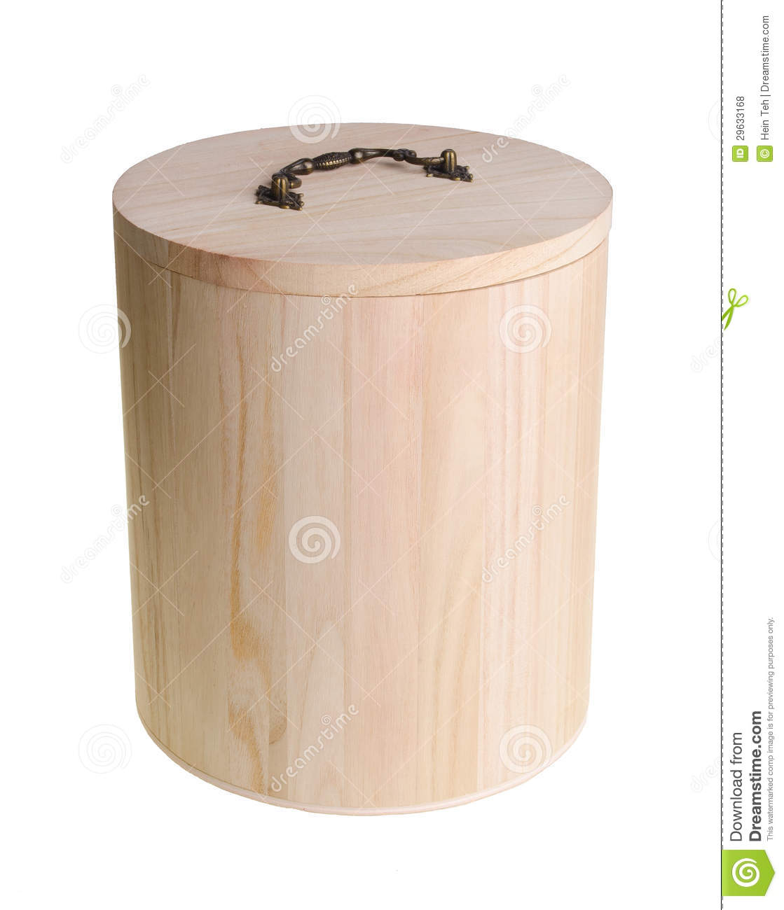 Wooden Container And Pot For Rice Storage On Background