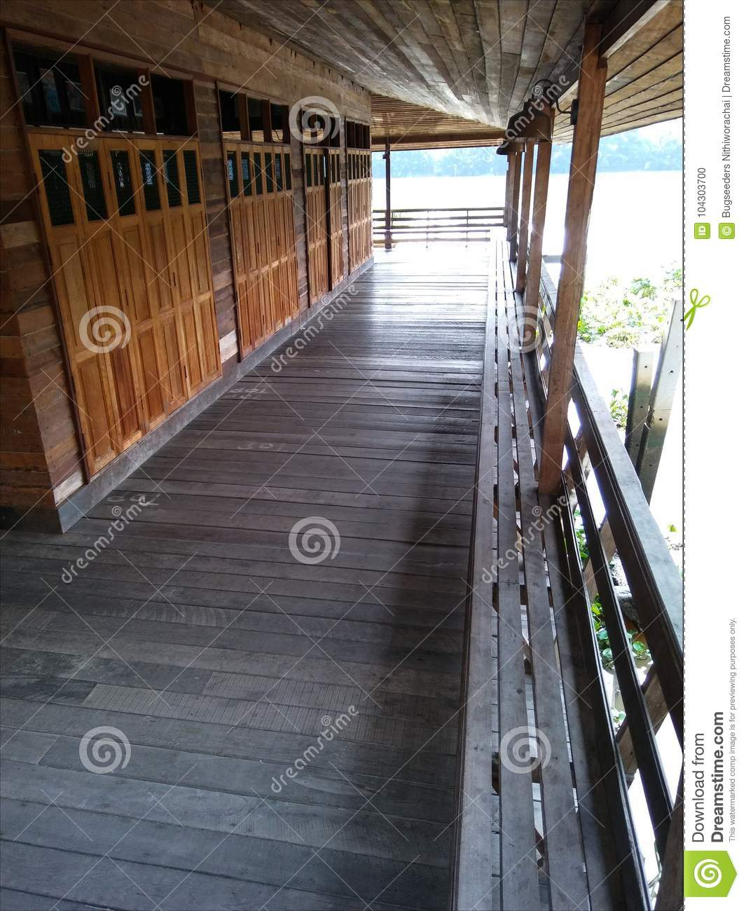 Marvelous Wooden Corridor Of River House Stock Photo Image Of Rural Pdpeps Interior Chair Design Pdpepsorg